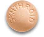 25 mcg dose; Orange Synthroid Pill