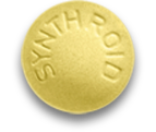 100 mcg dose; Yellow Synthroid Pill