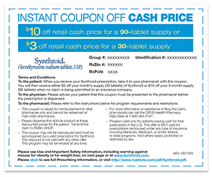 Synthroid Cost; Prescription Coupons